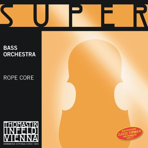 Thomastik-Infeld 2887 Super Flexible, Double Bass Strings, Complete Set, 2887.0, 3/4 Size, Orchestral Tuning, Steel Core, Chrome Wound