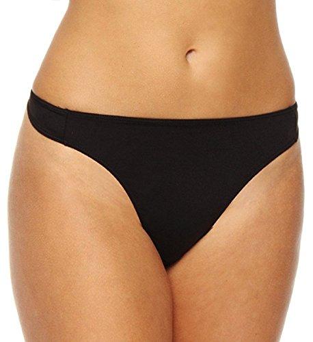 Elita Silk Magic Hi-waist Thong, SMALL, Ebony ()