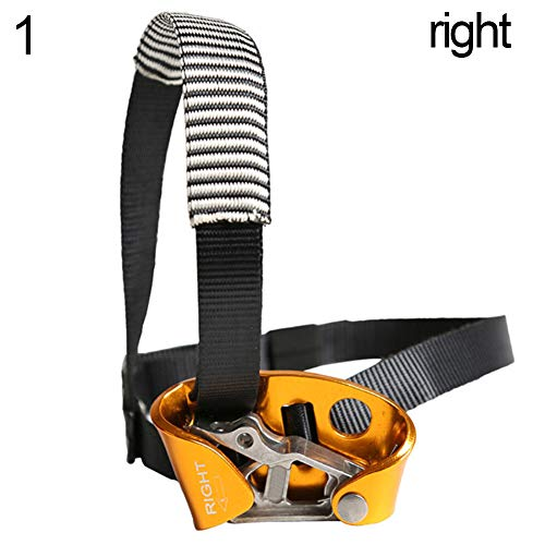 w70anFUyjn Rock Climbing Foot Ascender Left/Right Foot Safety Equipment for Outdoor Mountaineering Expedition, Caving, Rescue Aerial Work Multiple Choices Right