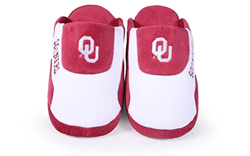 Slippers Womens NCAA Happy OFFICIALLY Sooners Low Mens Pro LICENSED Oklahoma College Feet and tOwvTO