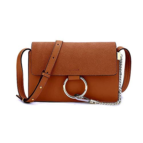 Olyphy Designer Ring Bags for Women, Mini Shoulder Purses Leather Crossbody Bag with Chain from Olyphy