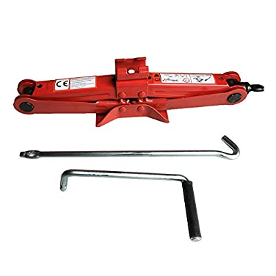 "Big Red Steel Scissor Jack 2 Ton Capacity, 4.13""-15.15?¡ÀLift Range ,1 Pair"