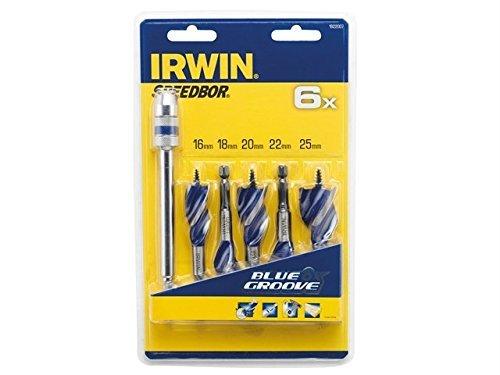 IRWIN 1922007 6X Blue Groove Stubby Wood Bit (Set of 5) by IRWIN by IRWIN