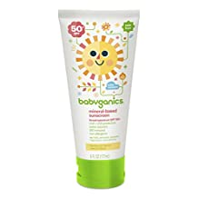 Babyganics Mineral-Based Sunscreen, SPF 50+, Fragrance Free 6 oz (177 ml)
