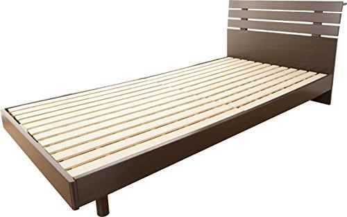 シングルベッド すのこベッド 木製ベッド ベッドフレームのみ シンプル/ブラウン(BR) B0785RDBK8 ブラウン(BR)
