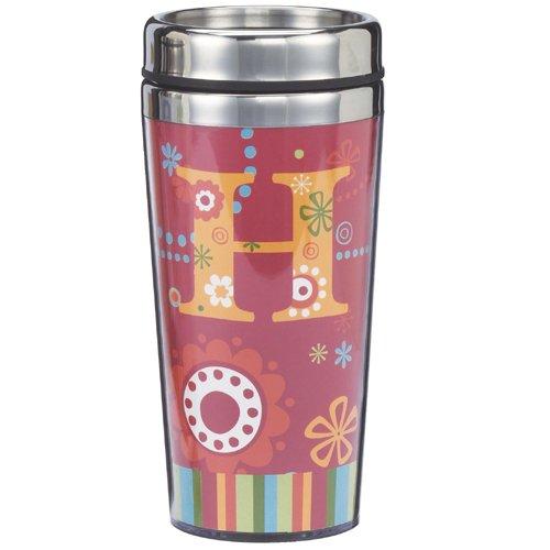 Fun & Funky Travel Mug - H (Ganz Travel Mugs)