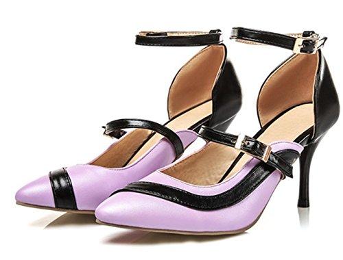 YCMDM donne grandi taglia talloni a punta di punta di pattini moda passerella appuntamenti scarpe partito Scarpe di Charme scarpe da Corte , purple , 32 custom 2-4 days do not return