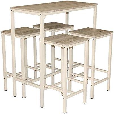 Mod. BRASIL Set Mesa y 4 taburetes muebles Design bar cocina ...