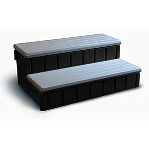 Confer Plastics Spa Step with Storage - Gray