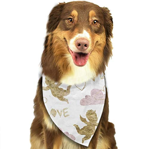 TNIJWMG Golden Cupid with Clouds Pattern Bandana Triangle Bibs Scarfs Accessories for Pet Cats and Puppies -