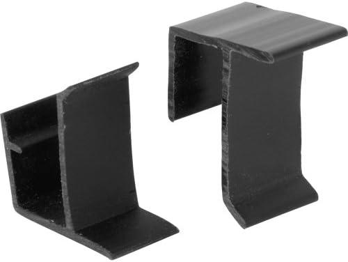 slide-co 181756画面フレーム固定クリップ上部と下部、ブラックビニール、(Pack of 2)