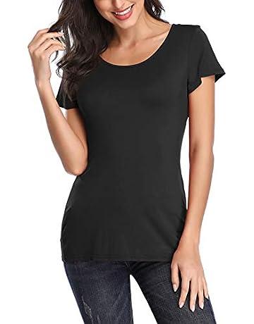 f03c153c7a6 WFTBDREAM Women s Casual Short Sleeve Tee T-Shirt Tops Criss Cross