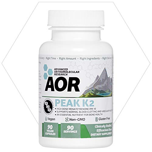 AOR, Peak K2, Supports Bone and Cardiovascular Health and Normal Blood  Clotting, Dietary Supplement, 90 servings (90 capsules)