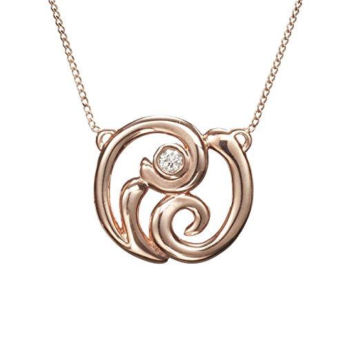 (Small diamond pendant by Majade. Simple diamond necklace, dainty real diamond gold necklace. Handmade solid 14k rose gold bezel set diamond necklace. Tiny minimalist jewelry. Delicate diamond choker.)