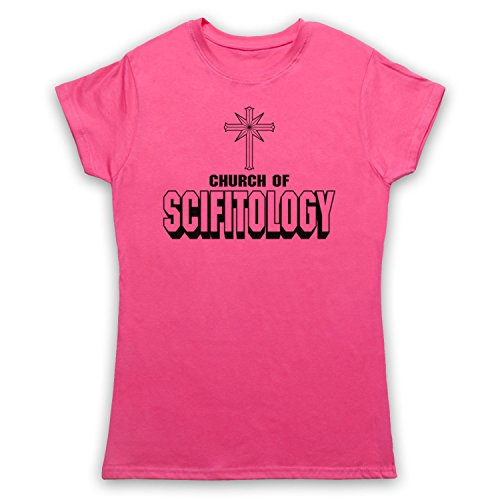 Church Of Scifitology Sci-Fi Lover Parody Camiseta para Mujer Rosa