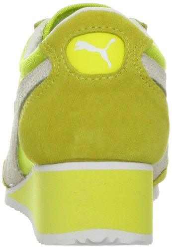 Zapatilla De Deporte Puma Caroline Wedge Fashion Para Mujer Amarillo Fluorescente
