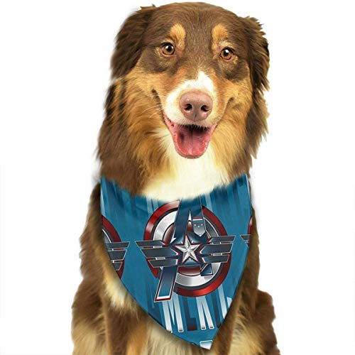 Fairy girl Is you Pet Dog Bandanas,Power Captain America Printing Dog Kerchief,Triangle Head Scarfs Accessories for Small to Large Dogs Cats Pets - 27.5 X 18 Inch ()