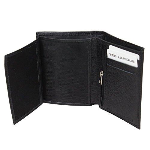 Petit portefeuille cuir Ted Lapidus Loukas TL TY3004 - Noir