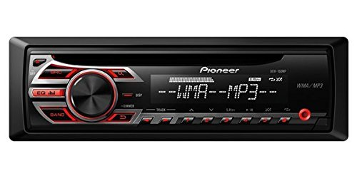 Pioneer DEH-150MP In-Dash Single-DIN CD/CD-R/CD-RW, MP3/WAV/WMA Car Stereo Receiver w/ 3.5mm Auxiliary Input, Remote Control & Detachable face plate ()