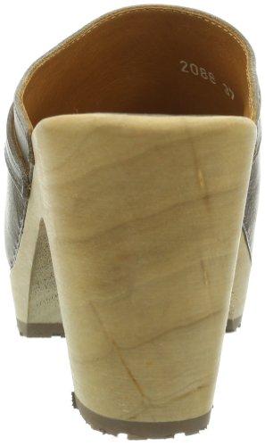 Swissoccoli Holzsandalette 2091 - Zuecos para mujer Gris (Grau/Tannico Stone)