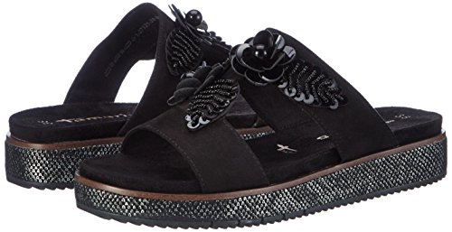 27121 Heels black 001 Wedge Black Tamaris Sandals Women's PqWAvnaw