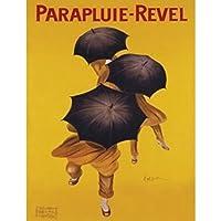 Buyartforless Parapluie Revel 20x16 Art Print Poster Vintage Umbrella French Travel Poster