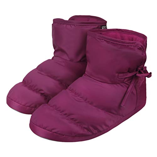 Pictures of Unisex Winter Quilted Down Ankle Bootie House 7
