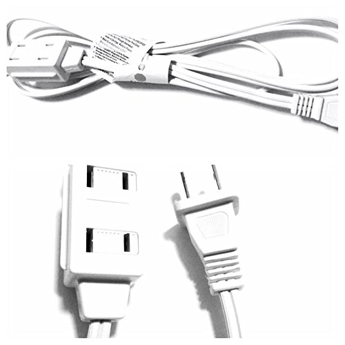 JF 6 feet Wall Hugger Extension Cord White Color