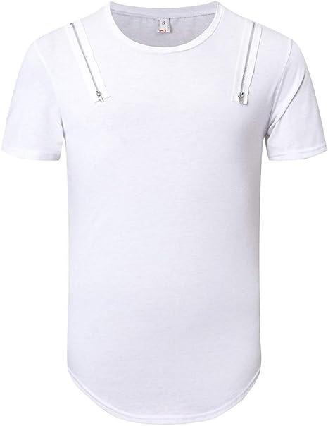 Wawer – Camiseta – Manga Corta – Algodón Hombre Blusa sólido T ...