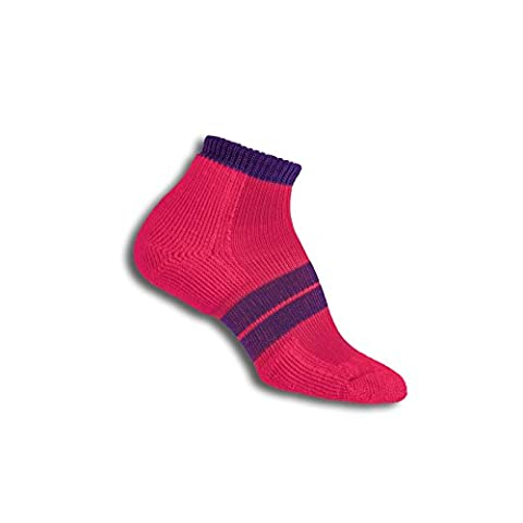 Thorlos 84N Women'S Runner Micro Mini Sock Size: L, Pink/Elec Purple with a Helicase Sock Ring - 84n Runner