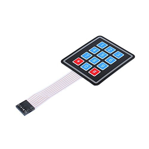 IDUINO Arduino Compatible 3x4 4x3 Matrix Membrane 12 Buttons Control Panel Single-Chip Expansion (Panel Keypad)