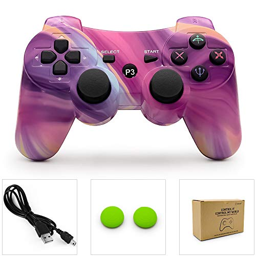 (PS3 Controller Wireless Dualshock 3 PS3 Remote Ps3 Gamepad Best PS3 Joystick Gift for Kids Bluetooth Sixaxis Gamepad for Playstation 3)
