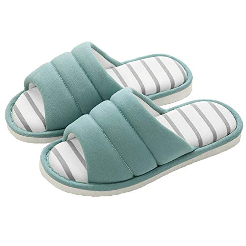 shevalues Women's Soft Indoor Slippers Open Toe Cotton Memory Foam Slip on Home Shoes House Slippers