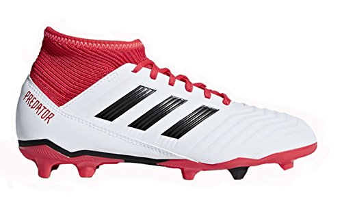 adidas Originals Unisex-Kids Ace 18.3 FG J, White/Core Black/Real Coral, 1 M US Big Kid