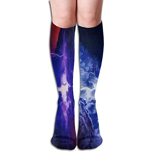- Casual Comfortable Over The Knee High Long Socks Unisex Ocean Sailboat Lighting Outdoor Sports Running Tube Stockings