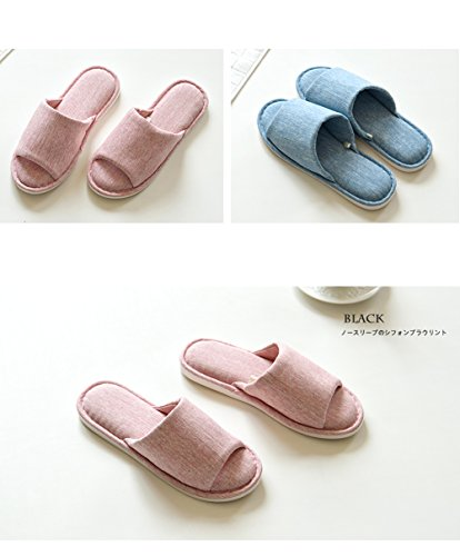 Asifn Indoor Home Slippers Memory Foam Men Women Cotton Cozy Massage Flax House Casual House (7.5 US Women/6 US Men, Pink) by Asifn (Image #6)