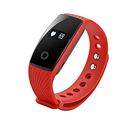 Zebronics Fit 500 Fitness Tracker (Red)