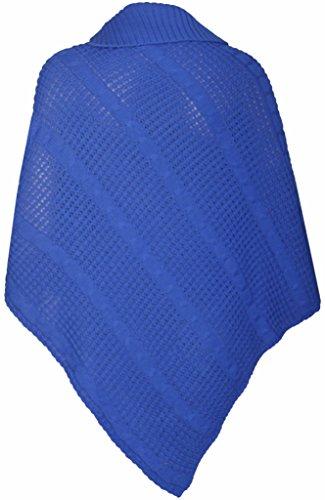 Purple FEMMES Poncho tricot bouton long femme Hanger NEUF gxOgqAB
