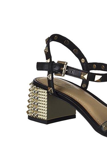 Ash Women's RUSH07 Black Leather Sandals SqIsbNL1ZM