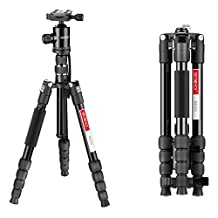 """Beschoi Camera Tripod, 60"""" Lightweight Aluminum Travel DSLR Tripod Monopod with Ball Head for Canon Nikon Pentax Olympus Sony, Load up to 26.5lbs/12KG"""