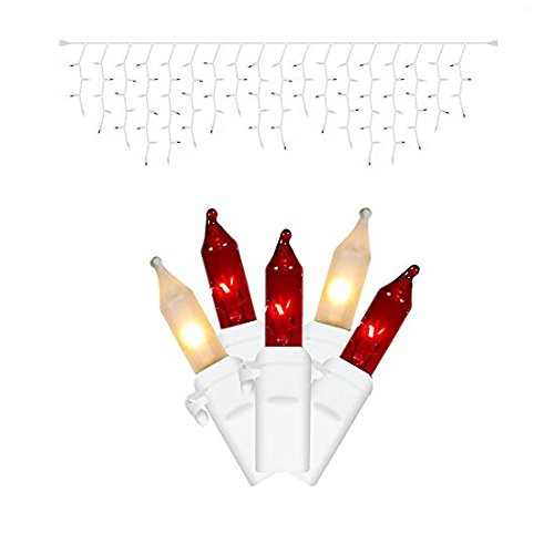 Red And Clear Outdoor Christmas Lights