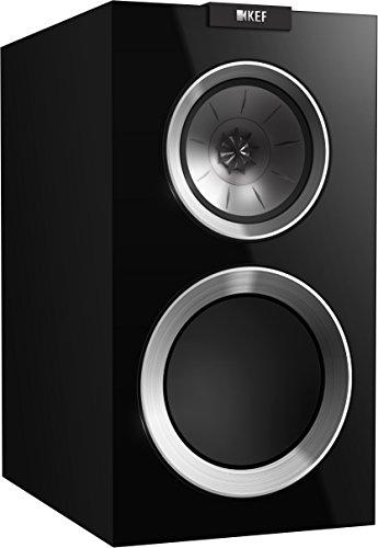 KEF R300 Bookshelf Loudspeaker – High Gloss Piano Black (Pair)