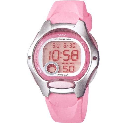36810e9c119b Reloj Cronometro digital señora tipo Cadete Caja y correa resina Rosa  C0035  Amazon.es  Relojes