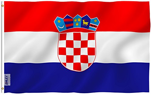 - Anley |Fly Breeze| 3x5 Foot Croatia Flag - Vivid Color and UV Fade Resistant - Canvas Header and Double Stitched - Croatian Flags Polyester with Brass Grommets 3 X 5 Ft