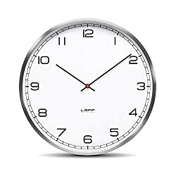 wall clock one35 stainless steel white arabic