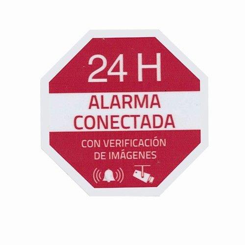 Pegatina plastico alarma interior-exterior, Cablepelado