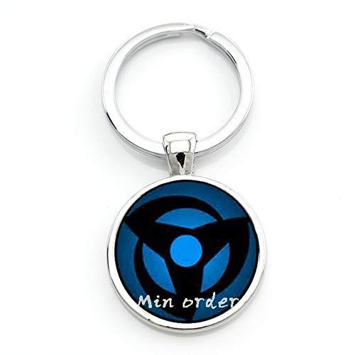 Glass Photo Keyring Naruto Shippuden Keychain Silver Naruto Symbol Key Chains Key Rings Handmade Jewelry (Naruto Symbol Keychain)