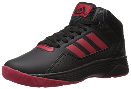 adidas Men's Shoes | Cloudfoam Ilation Mid Basketball, Black/University Red/Black, (10 M US)
