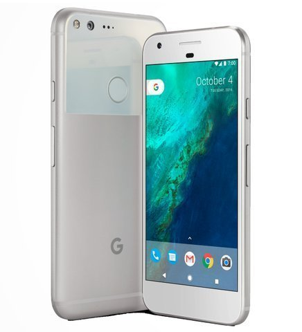 Google Pixel 128GB - 5'' Android GSM 4G LTE Factory Unlocked - International Version (No Warranty) - Very Silver by Google