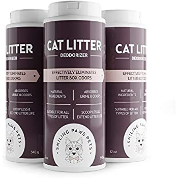 Value Pack - THE ORIGINAL 3-in-1 Cat Litter Deodorizer - Natural Ingredients - Kitty Litter Box Scent Remover With Moisture Absorbent Formula - Odor Eliminator and Neutralizer - 3-Pack -11OZ